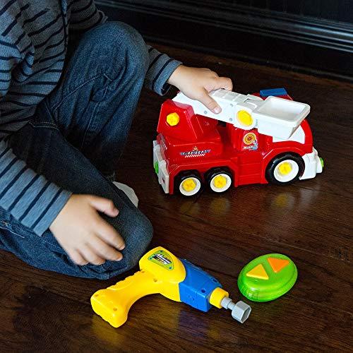 Fat Brain Toys Build It! Drive It! RC Fire Engine