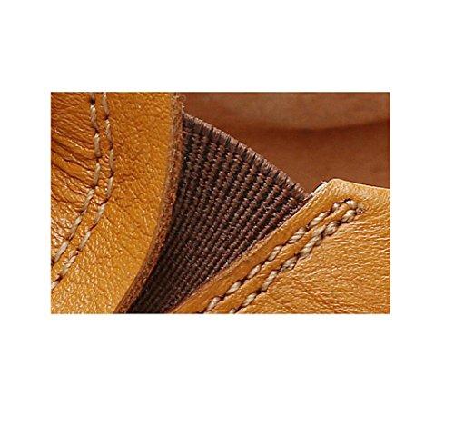 Fibbia Fondo con Cotone in Scarpe Cintura zmlsc Morbida Indossano da Uomo Cerimonia A da Indossano Fibbia Yellow Una Abiti Punta con con Piatto wOS4RqnAt