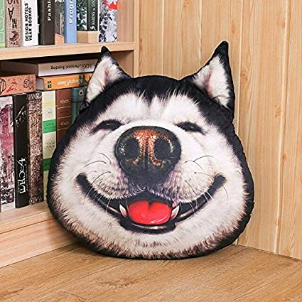baiyinlongshop Cute Husky Dog Plush Toys Impreso Almohada ...