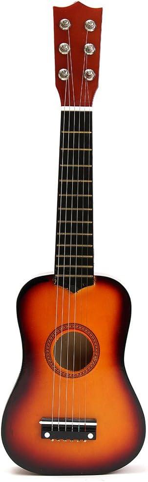 TOYMYTOY 21 pulgadas Guitarra acustica Pequeña guitarra de madera para niños infantil principiantes (Color del sol)