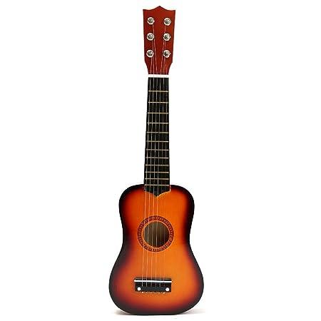 TOYMYTOY 21 pulgadas Guitarra acustica Pequeña guitarra de madera para niños infantil principiantes (Color del sol): Amazon.es: Bebé