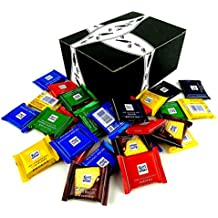 Ritter Sport Assorted Mini Chocolate Squares, 1 lb Bag in a BlackTie Box