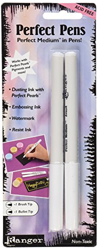 Clear Embossing Ink (Ranger Perfect Pens Set, 2-Pack,)