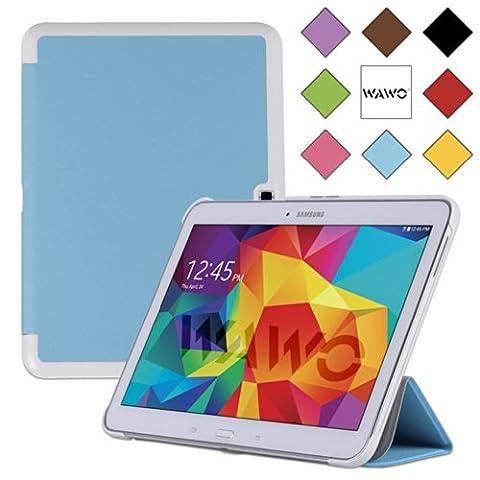 WAWO Samsung Galaxy Tab 4 10.1 Inch Tablet Smart Cover Creative Fold Case - Blue (Tablet Samsung Tab4 10)