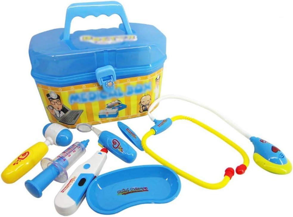 SPARE Kit médico para los niños, Pretend Médico Médico Playset con fonendoscopio electrónico, médico Kits de Regalo, el Doctor Educativo Juguetes para los Muchachos del niño de Las Muchachas (Azul)