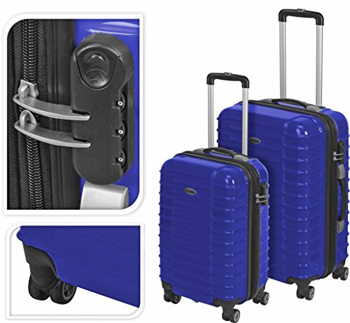 555y99–Koffer Trolley Polycarbonat blau NHpF6txZ1
