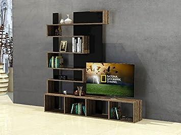 Minar by homemania porta tv mobile tv newarda noce nero amazon