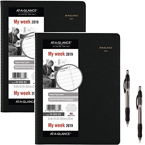 at-A-Glance Weekly Appointment Book/Planner, January 2019 - January 2020, 8-1/4