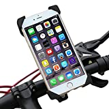 Encust Universal Cell Phone Bicycle Rack Handlebar & Motorcycle Mount Holder for iPhone 7 6 6S 6S plus 5S 5C Samsung Galaxy Edge S7 S6, HTC Nexus 6 & Other Cell Phones