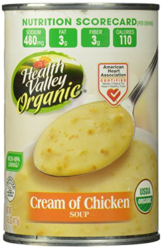 Health Valley Organic Soup, Cream of Chicken, 14.5 Ounce (Pack of 12)