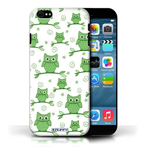 Etui / Coque pour Apple iPhone 6/6S / Vert/Blanc conception / Collection de Motif Hibou