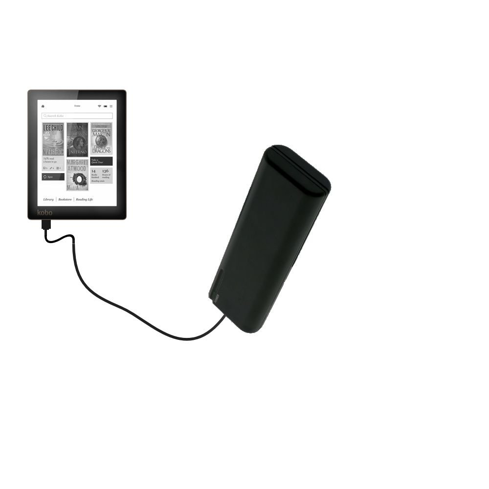 Gomadic Portable AA Battery Pack designed for the Kobo Aura / Aura HD - Powered by 4 X AA Batteries to provide Emergency charge. Built using TipExchange Technology