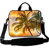 Wondertify 17-17.3 Inch Waterproof Neoprene Laptop Shoulder Bag Briefcase - Hawaii Summer Beach Protective Bag Carrying Case for Macbook/Tablet/Laptop/Notebook/ASUS/Samsung/Lenovo/HP/Dell