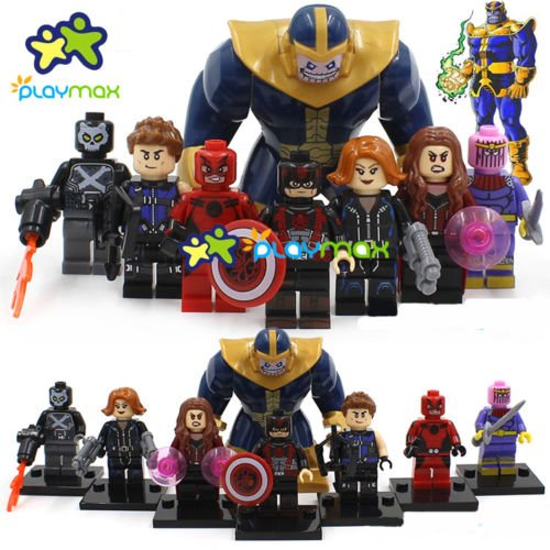 8 PCS Marvel DC Heroes Thanos/Black Widow/Ant-Man/Crossbones/Baron Zemo