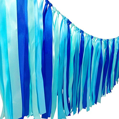 Hanging Fish Decorations - HANGNUO Colorful Ribbon Tassel Garland Already Assembled For Wedding Christmas Party Decorations Nursery Photo Props 40