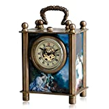Antique Pocket Watch, Painted Carved Mechanical European Style Pocket Watch, Hand Winding Clock Gift for Men