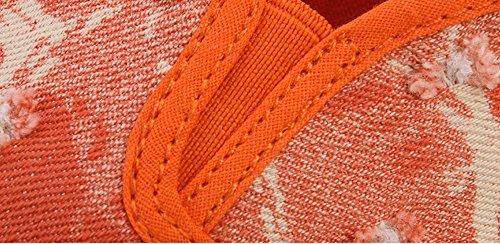 Bininbox Donna Scarpe Di Tela Casual Slip-on Scarpe Con Plateau Arancione