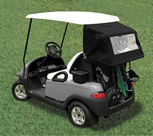 Golf Car Club Canopy - DoorWorks DryClub Canopy - Club Cover (Club Car Precedent, Sunbrella Black)