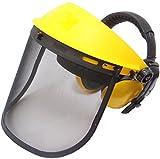 Jasper Browguard Face Shield Mesh Visor with Ear Muffs - ANSI Z87.1 CE EN1731