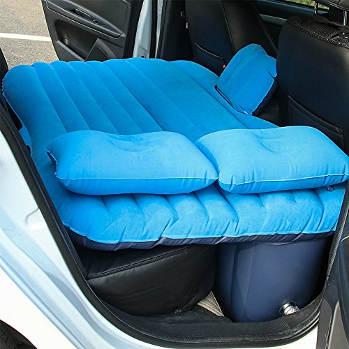 Car Travel Air Mattress Air Cushion Bed Multifunctional Mobile Inflatable Bed Cushion for Sleep Rest and Intimate Motion (Blue) (Best Inflatable Car Bed)