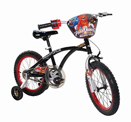 e8ef3ef9554 Amazon.com : Power Rangers Boy's 16-Inch Mega Force Bike, Black and Red : Power  Rangers Bicycle : Sports & Outdoors