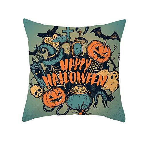 Halloween Pillowcase DOOIOR Pumpkin Throw Pillow Cover Decorative Sofa Cushion Cover Home Decor Hug Pillowcase