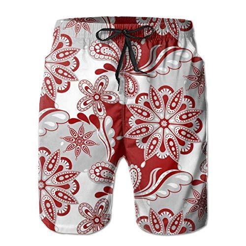 Lichenran Alabama Paisley Mandala_1550 Men's Board Shorts Swim Trunks Surf Beach Holiday Party Swim Shorts Beach Pants XXL