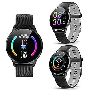 2017 redondo piel Deluxe Smartwatch sincronización Bluetooth + ...
