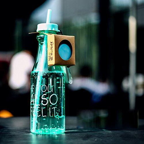 Zehui Sports Plastic Cups Originality Double Lid Straw UNBreak Leak Proof 650ML High-capacity Light green