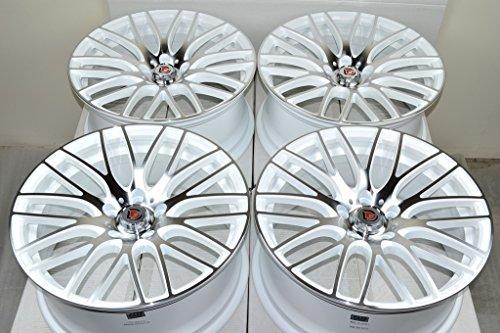 18″ Wheels Rims ddr zuki White with Polished Face Finish 18×8 5×114.3 40mm Offset 5 Lugs Bolt Pattern (Set of 4)