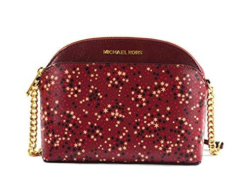 Michael Kors Emmy Crossbody Bag Purse Handbag - Burgundy Kors Michael