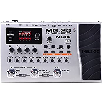 nux mg 20 electric guitar multi effects processor with drum machine looper function. Black Bedroom Furniture Sets. Home Design Ideas