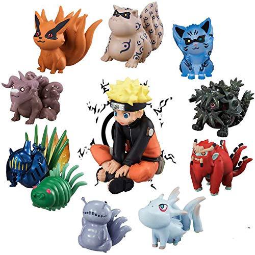 Buy Tcos Tech Naruto All Nine Tails Kyuubi Bijuu Kurama Shukaku Matatabi Isobu Son Gokuu Kokuou Saiken Choumei Gyuuki 2 5 3 0 Cute Pvc Mini Action Figure Anime Toys Online At Low Prices In