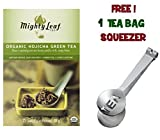 Mighty Leaf Tea , Organic Green Hojicha ,(with FREE Tea Bag Squeezer) (1 Pack)