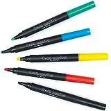 Favolosi pennarelli per gommapiuma (confezione da 5) - Colori rosso verde nero blu giallo