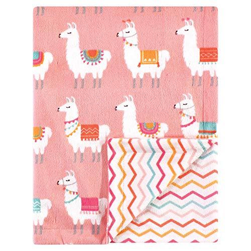 (Hudson Baby Reversible Mink Blanket, Llama, One Size)