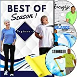 Beginner Exercise DVDs: 6 Total Body Workouts + Resistance Band + More. Fun and Effective Exercises That Everyone can do. Great for Middle Age Beginners. Low Impact Workouts. Fitness That is Fun!