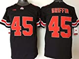 Men's Ohio State Buckeyes Archie Griffin #45 College Football Jersey Black X-Large