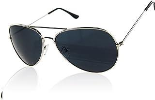 ELENXS Kleidung Accessoires Unisex Männer Frauen Aviator Metall Sonnenbrillen reflektierende Linse Gold Silber Rahmen
