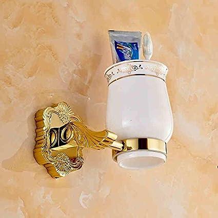 jinrou Dorado de cobre de diseño único y elegante estilo cepillo de dientes cepillo de dientes