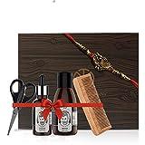 The Man Company Rakhi Almond & Thyme Beard Box (Almond & Thyme-Beard Oil, Beard Wash, Wooden Comb and Seezer) (Free Rakhi Inside)