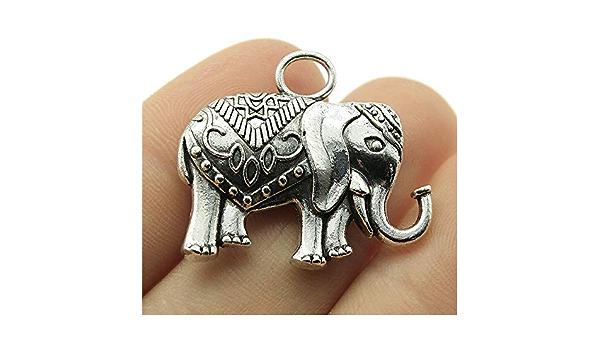 62021-2201 15x14MM Elephants Charm Double Side Antique Tibetan Silver Tone Zinc Alloy Charm 10 Pcs Bulk Lot Options