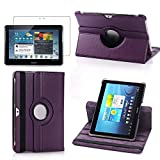 Samsung Tab 2 Case,Flying Horse Lichee Pattern 360 Degrees Rotating Stand PU Leather Case for Samsung Galaxy Tab 2 10.1 P5100 Auto Sleep/Wake Tablet (Purple)