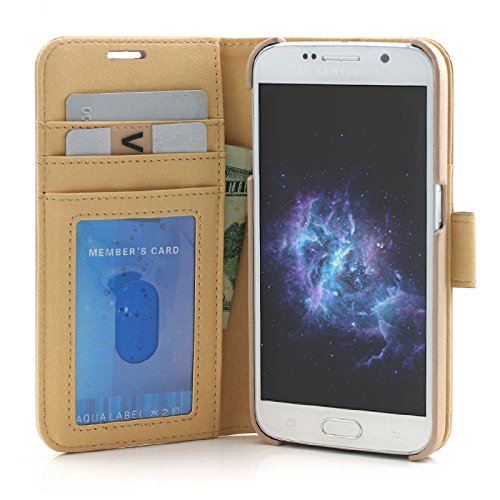 31099fe1117 Samsung Galaxy S7 Edge case, Prodigee [Wallegee] Gold for Galaxy S7 Edge (