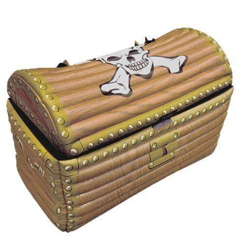 Partyrama - Nevera hinchable, diseño de cofre del tesoro: Amazon ...