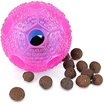 Rosmax Interactive Dog Toy, Iq Treat Ball Food Dispensing Toys For Small/Medium/Large Dogs Durable Chew, Nontoxic Rubber