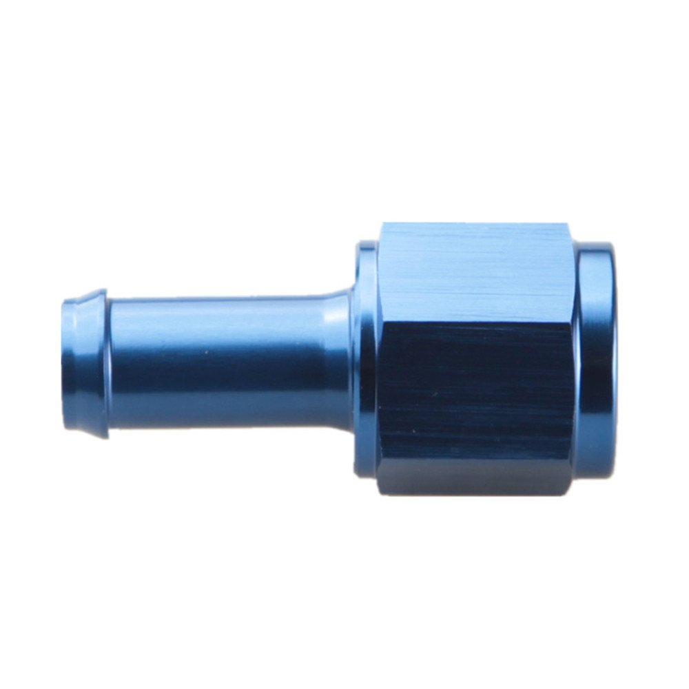 AN6 -6AN Female To 5/16' (8mm) Straight Hose Barb Adapter Black AdlerSpeed