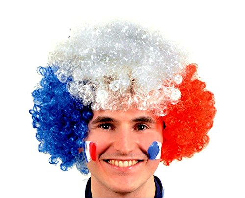 Da.Wa Sport Fan Costume Party Wigs Clown Hair Curly Afro Wig Fake Goofy Unisex Hair Holiday Customes ()