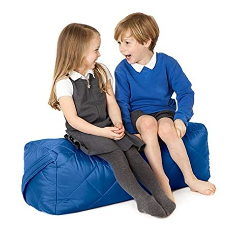 Fun!ture Blue Quilted Water Resistant Cushion Bean Bag