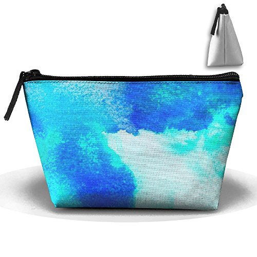 Spread Of Blue Pouch Cosmetic Bag Makeup Organizer Storage For Women